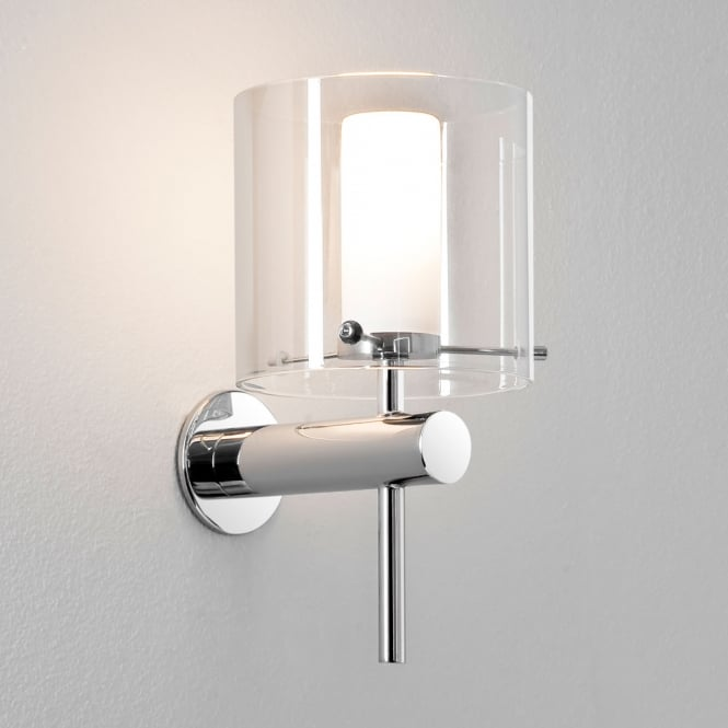 Astro Lighting Arezzo Chrome and Glass Wall Light
