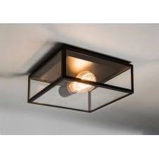 Bronte black Ceiling light glass box
