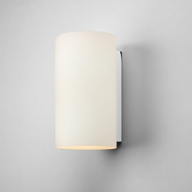 Astro Lighting Cyl 260 wall light white opal glass polished chrome