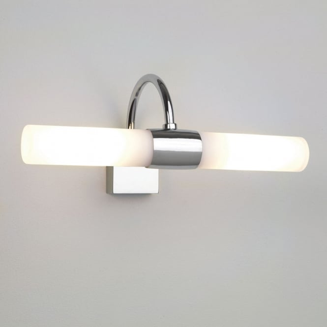 Astro Lighting Dayton twin over mirror light opal glass polished chrome finish