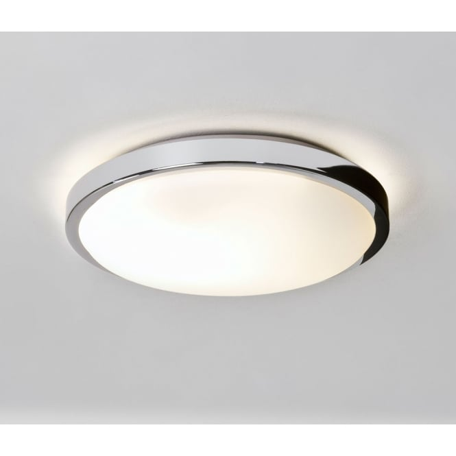 Astro Lighting Denia ceiling or wall mounted light polished chrome opal glass