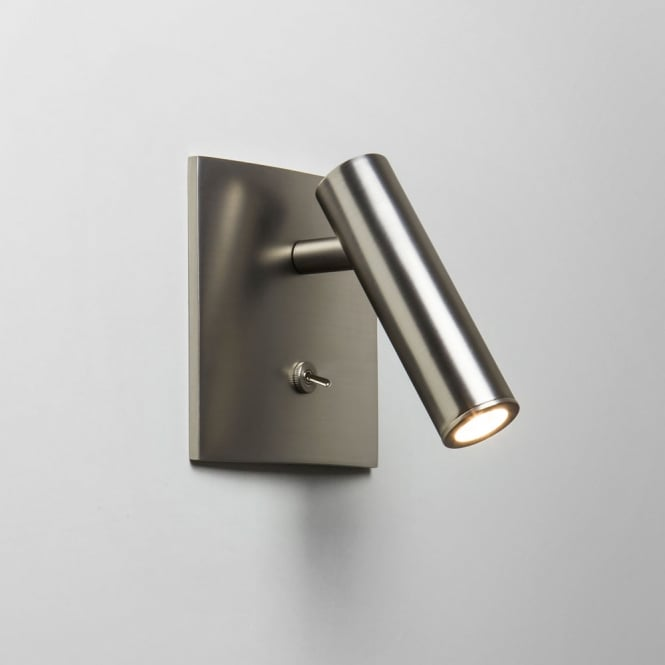 Astro Lighting Enna LED Square Switched Matt Nickel finish wall light