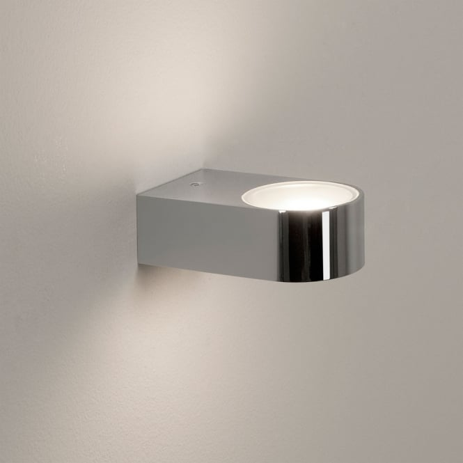 Astro Lighting Epsilon IP44 polished chome wall light white frosted glass
