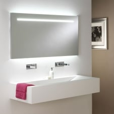 Flair 1250 illuminated mirror sand blasted details