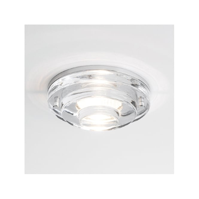 Astro Lighting Frascati round bathroom  downlight clear glass chrome finish