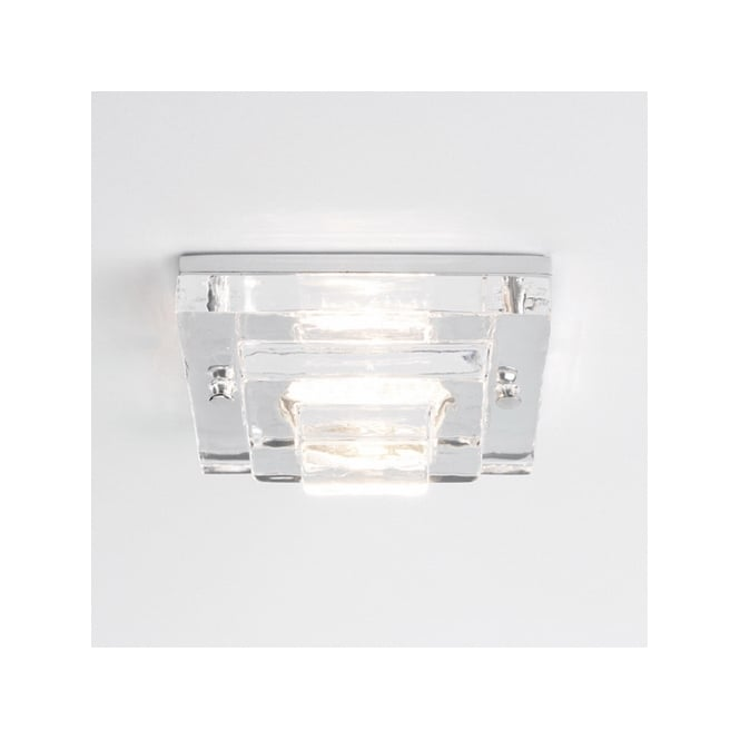 Astro Lighting Frascati square bathroom downlight clear glass chrome finish