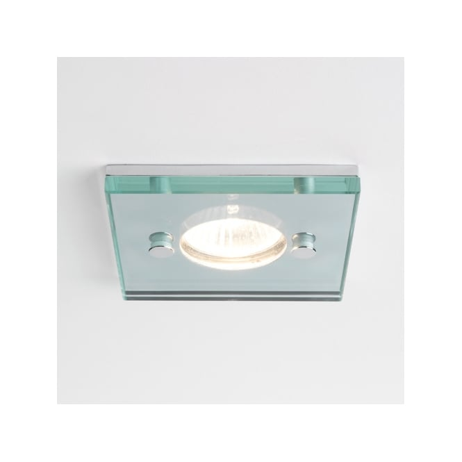 Astro Lighting Ice Square clear glass shower downlight