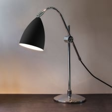 Joel Grande Table Light Black and polished chrome