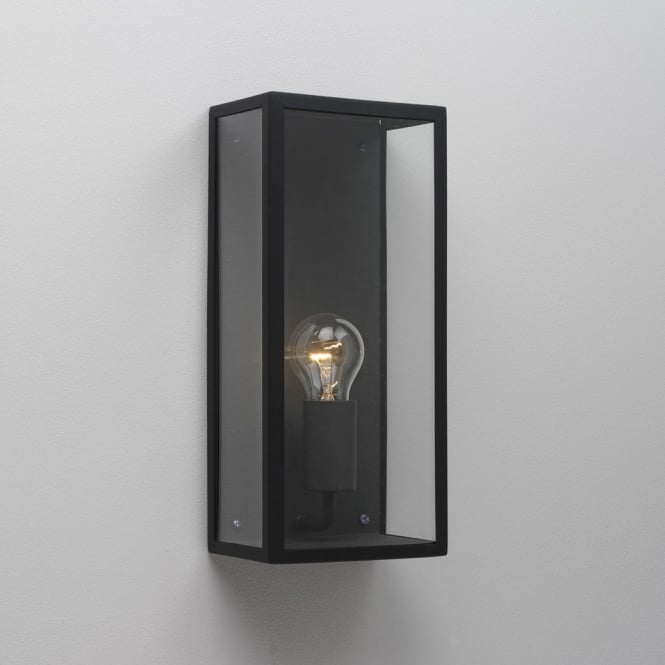 Astro Lighting Messina wall light black finish clear glass
