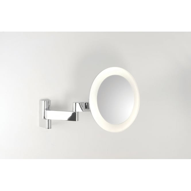 Astro Lighting Niimi round LED bathroom vanity mirror polished chrome