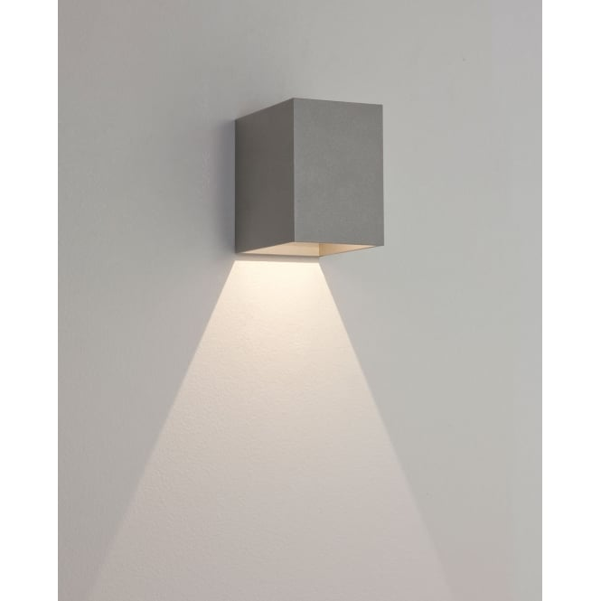 Astro Lighting Oslo 100 LED exterior wall light Painted Silver