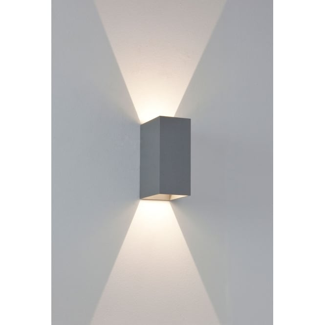 Astro Lighting Oslo 160 LED exterior wall light Painted Silver