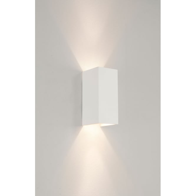 Astro Lighting Parma 210 wall light white plaster finish