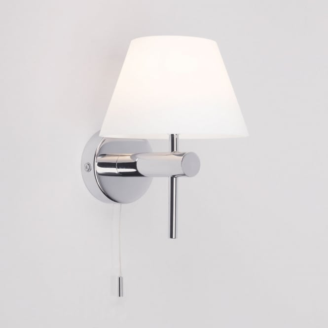 Astro Lighting Roma bathroom switched wall light polished chrome