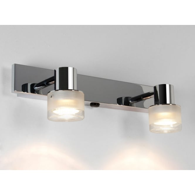Astro Lighting Tokai fixed head twin bar spotlight frosted and clear glass