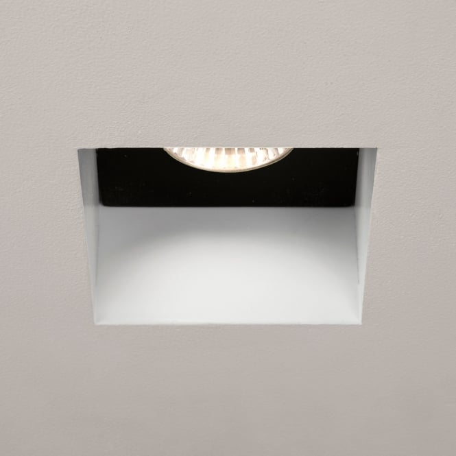 Astro Lighting Trimless Square Gu10 fire rated downlight black and white faceplate