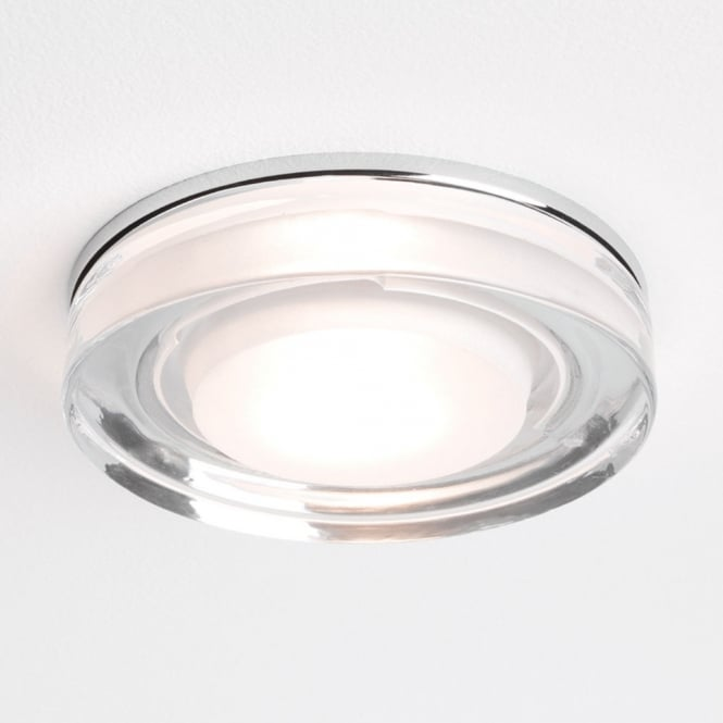 Astro Lighting Vancouver circular bathroom downlight polished chrome clear glass