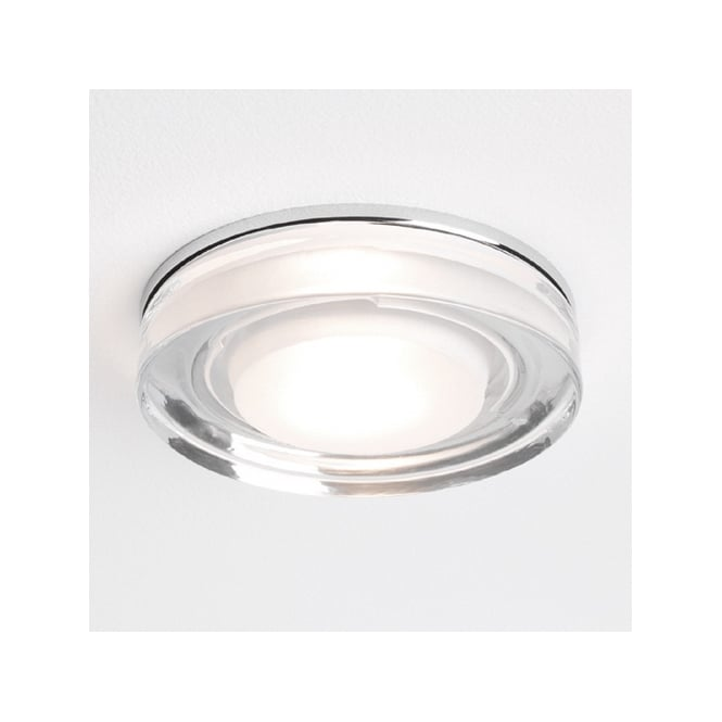 Astro Lighting Vancouver round bathroom downlight polished chrome and clear glass