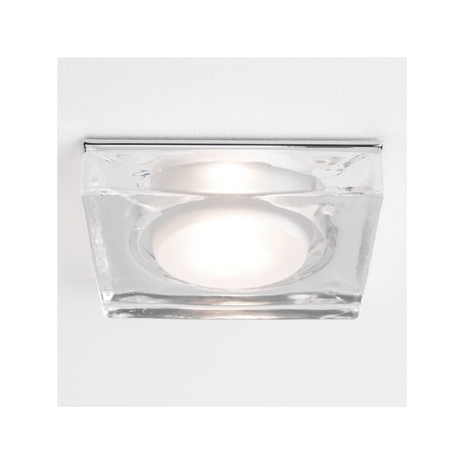 Astro Lighting Vancouver square downlight polished chrome and clear glass