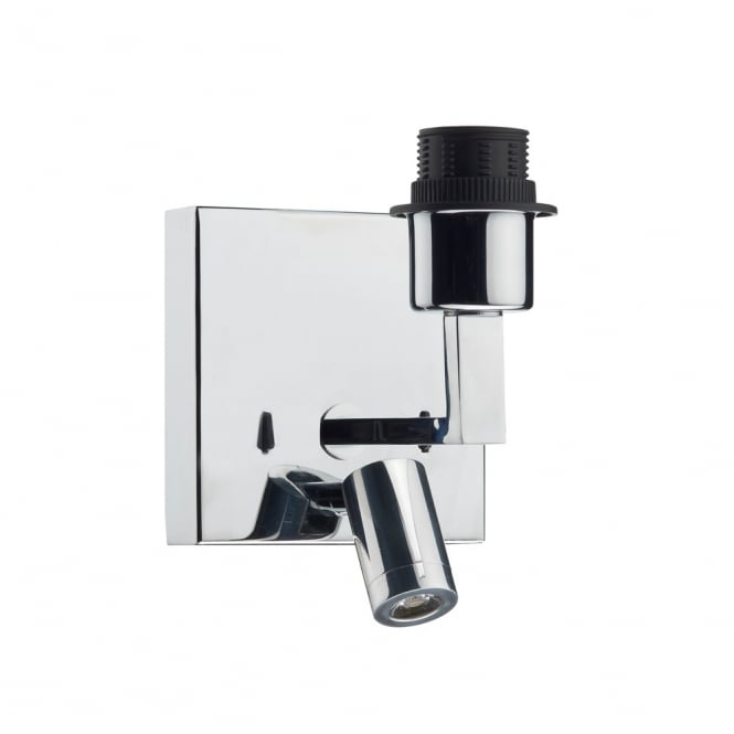 Dar Lighting Anvil Wall Bracket With Led Base Only Polished Chrome