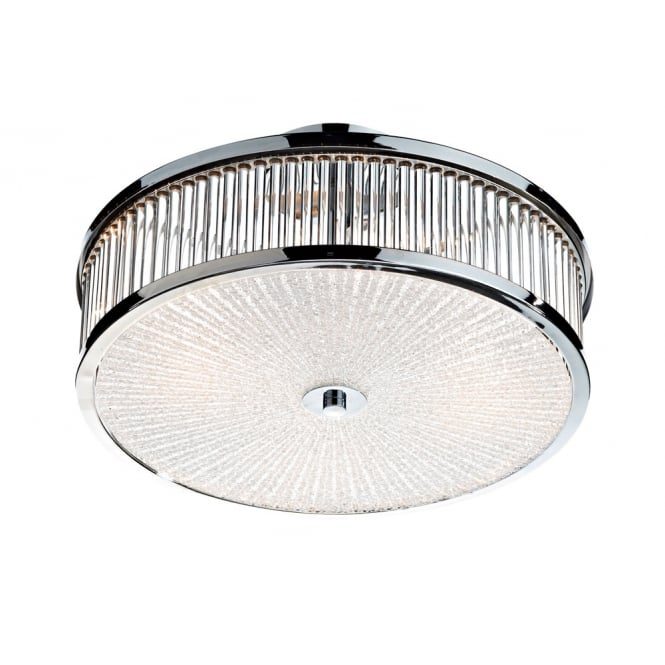 Dar Lighting Aramis 3 Light Glass Flush