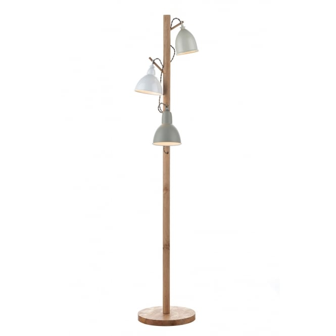 Dar Lighting Blyton 3 Light Floor Lamp complete with Painted Shade