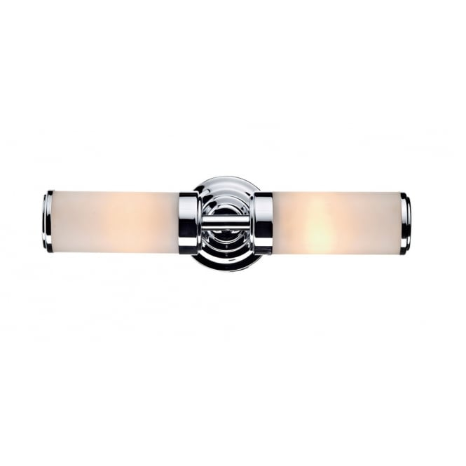 Dar Lighting Century Double Wall Bracket Polished Chrome IP44