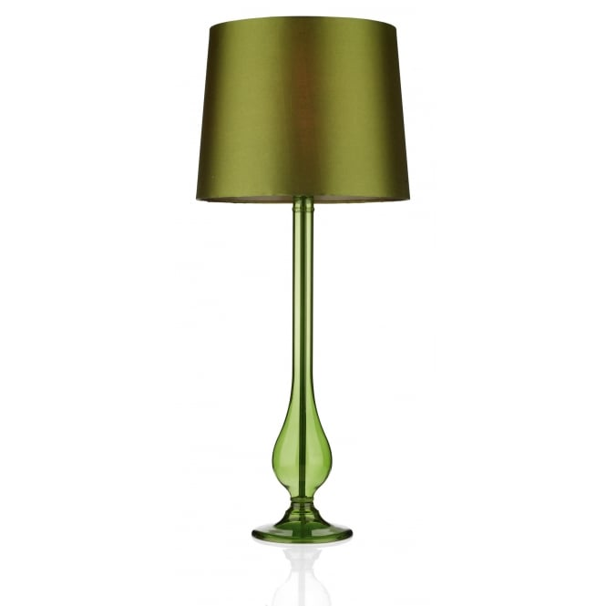 Dar Lighting Dillon Table Lamp Sage Green complete with Shade