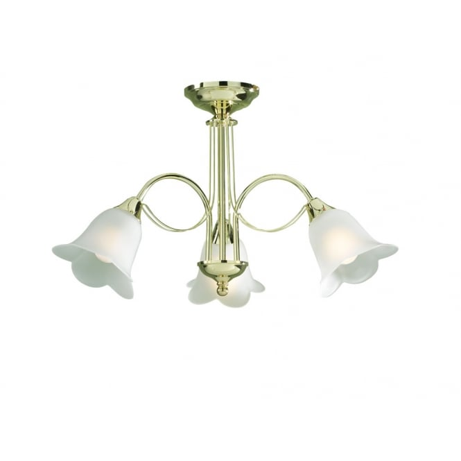 Dar Lighting Doublet 3 Light complete with Glass
