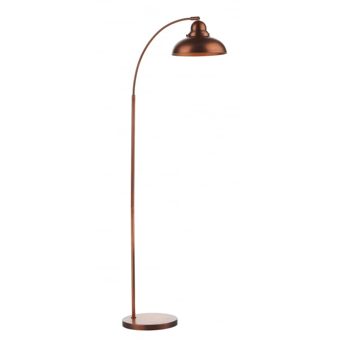 Dar Lighting Dynamo Floor Lamp Antique Copper