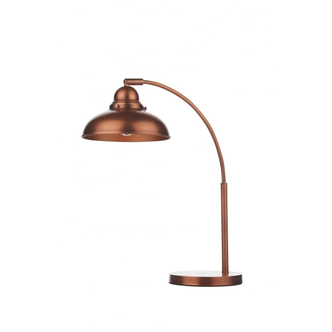 Dar Lighting Dynamo Table Lamp Antique Copper