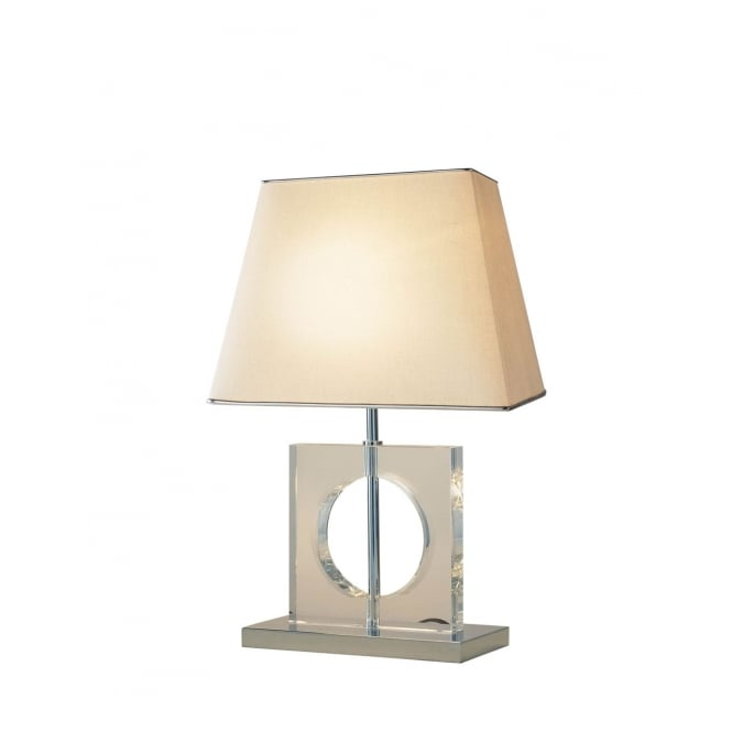 Dar Lighting Eco Table Lamp Quartz Glass complete with Shade