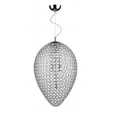 Frost 5 Light Pendant Polished Chrome