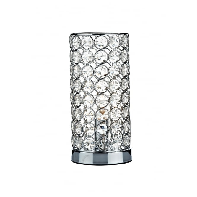 Dar Lighting Frost Table Lamp Polished Chrome Touch