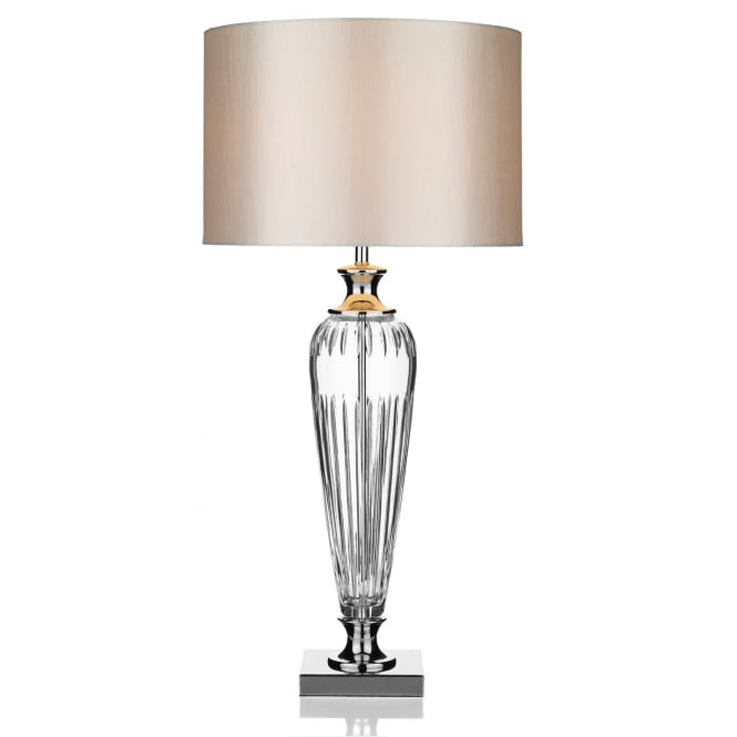 Dar Lighting Hinton Table Lamp Crystal complete with Shade