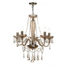 Raphael 5 Light Chandelier Champagne Crystal Shade Sold Separately ROH07