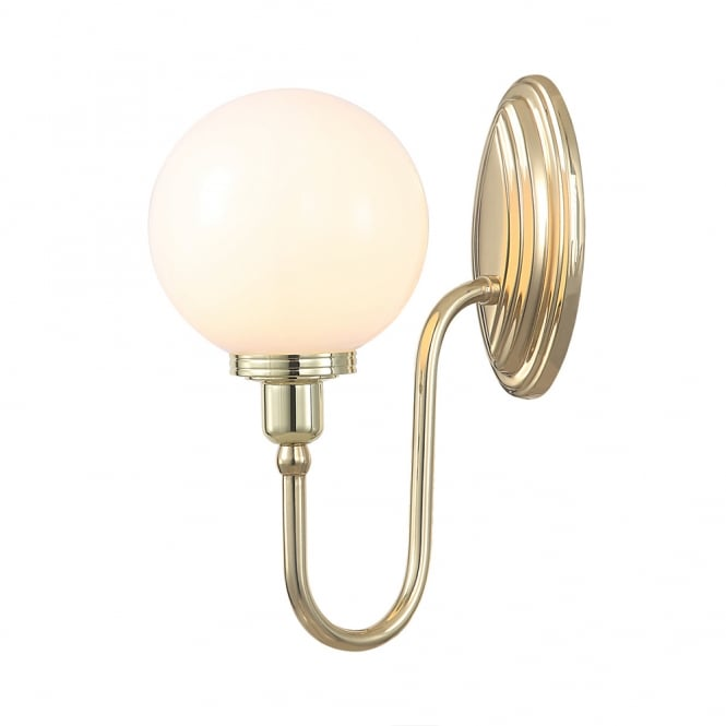 Elstead Lighting Bathroom Blake 4 wall light with a Polished Brass finish