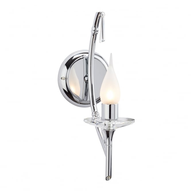 Elstead Lighting Bathroom Brightwell 1 light Wall fitting with a Chrome finish
