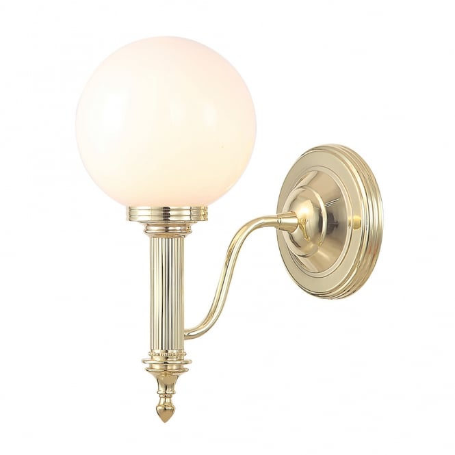Elstead Lighting Bathroom Carroll4 wall light with a Polished Brass finish