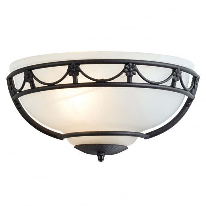 Elstead Lighting Carisbrooke Wall Uplighter with a Black finish