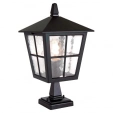 Hereford Porch Chain Lantern in a black finish