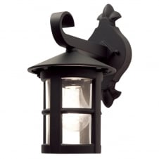 Hereford Wall Down Lantern in a black finish