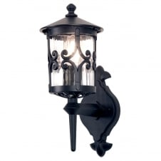 Hereford Wall Up Lantern in a black finish
