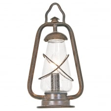 Miners Pedestal Lantern in an old bronze finish