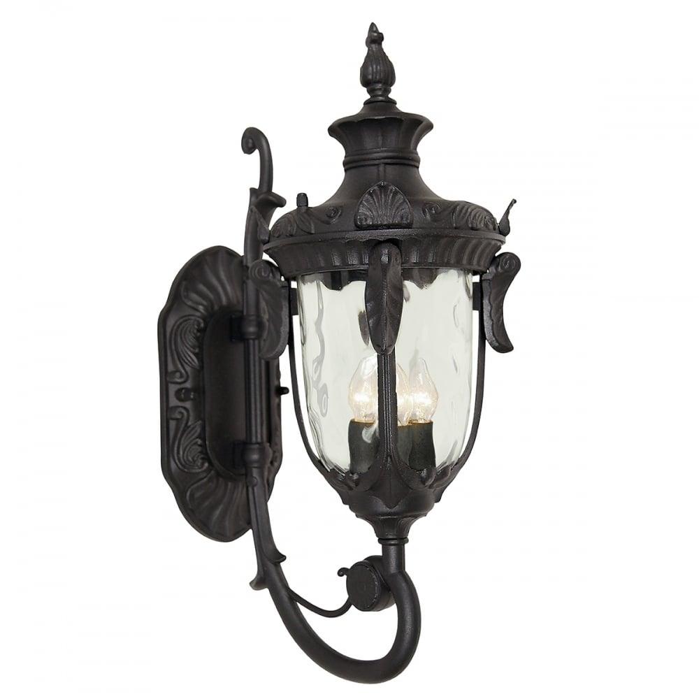 elstead lighting ph1 l blk philadelphia large wall lantern with