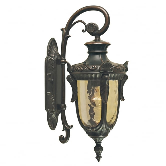 Elstead Lighting Philadelphia Wall Down Lantern Small with and old bronze finish