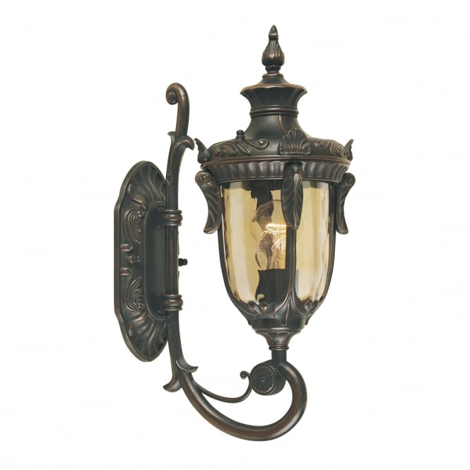 Elstead Lighting Philadelphia Wall Up Lantern Small with and old bronze finish