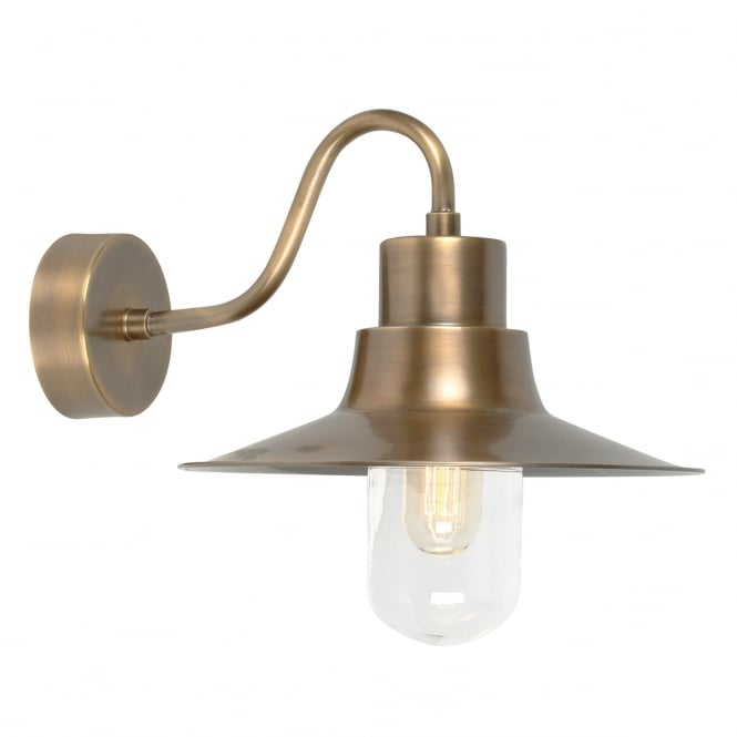 Elstead Lighting Sheldon Brass wall light with a brass finish