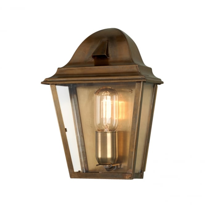 Elstead Lighting St James Wall Lantern with a Brass finish