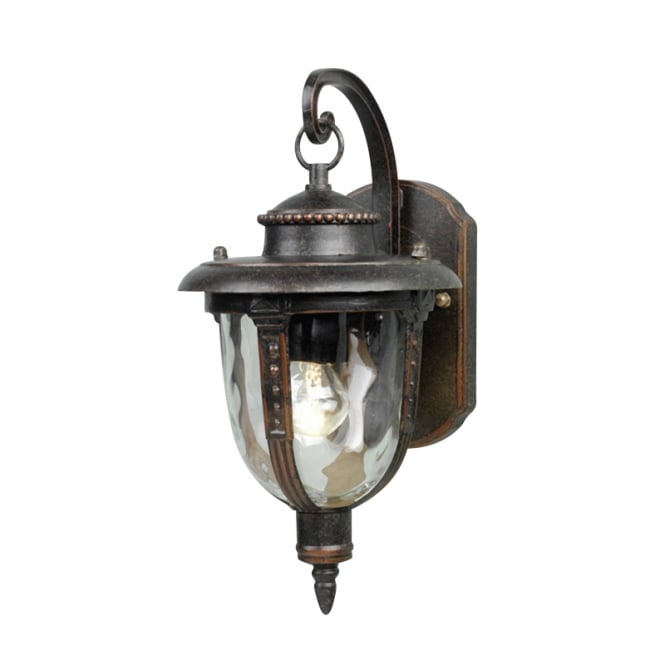 Elstead Lighting St Louis Wall Lantern Small with a weathered bronze finish